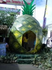 Pineapple statue in Calauan, Laguna, Philippines